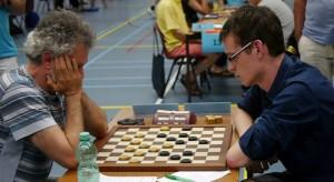 Juri Geisenblas-Roel Boomstra Nijmegen 2014. Een latere fase in de partij.