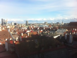 Een uitzicht over de oude stad tijdens één van de wandelingen