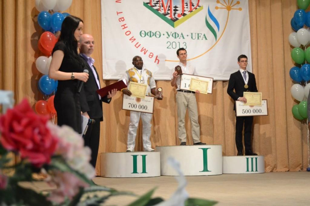 podium WK 2013: I Alexander Georgiev II Jean Marc Ndjofang III Roel Boomstra