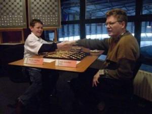 Bordenjongen op het NK 2003: Op de foto met Hans Jansen