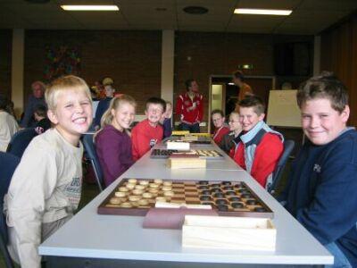 Viertalwedstrijd in 2004! Met Jacco Keizer, Kim Ziengs en ik zelf op het derde bord.